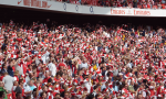 arsenal fans cheering emirates goal
